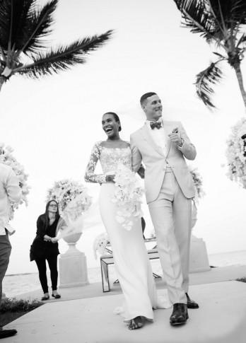 casamento-celebridade-arlenis-sosa-e-donnie-mcgrath-saida-dos-noivos-