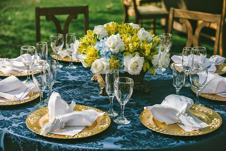 decoracao para casamento azul marinho e amarelo : decoracao para casamento azul marinho e amarelo:decoração de casamento – azul e amarelo – revista icasei (20)