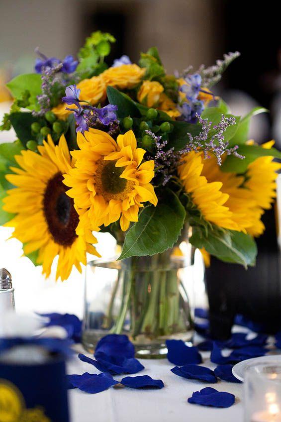 Decoraç u00e3o de casamento Azul e Amarelo