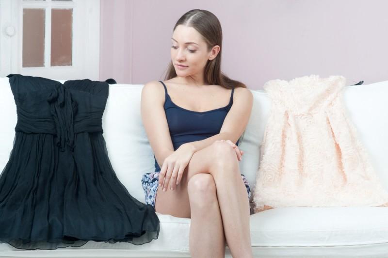 Atenção ao comprimento do vestido é uma boa opção para fugir das gafes.  Foto  Shutterstock 24764b2993