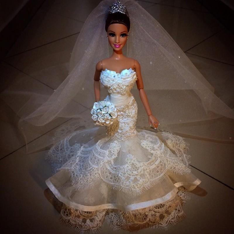 Barbie Noiva ~ Barbie réplica da noiva Recordaç u00e3o do Casamento