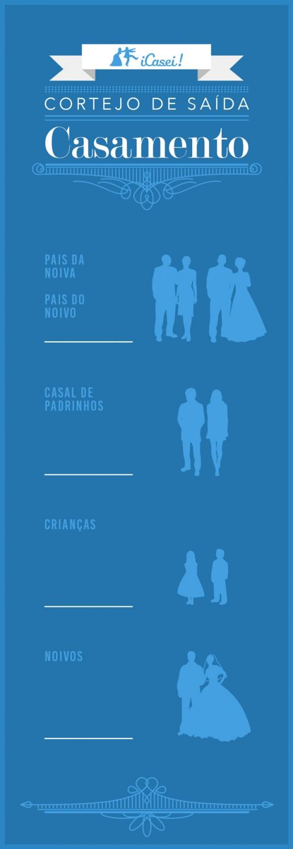 Muitas vezes Cortejo do casamento | Ordem de entrada e saída na cerimônia PF36