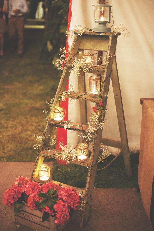 decoração de casamento - rústico - velas - revista icasei