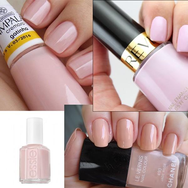 Unhas para casamento - esmaltes rosa - revista icasei
