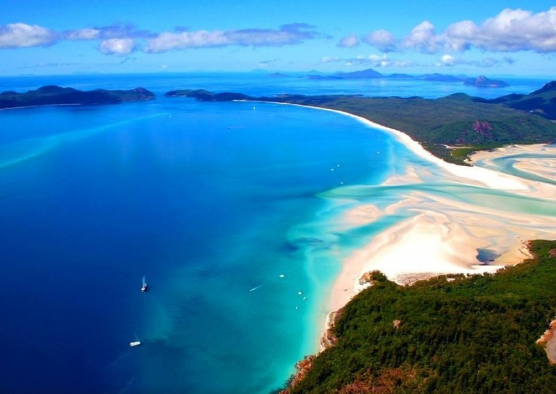 melhores praias do mundo - lua de mel - revista icasei - Praia Whitehaven - Whitsunday Island, Whitsunday Islands