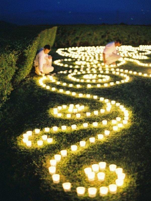decoração de casamento com velas - campo - revista icasei