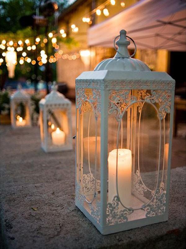 decoração de casamento com velas - luminárias - revista icasei