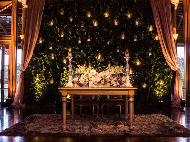 decoração de casamento com velas - mesa dos doces - revista icasei