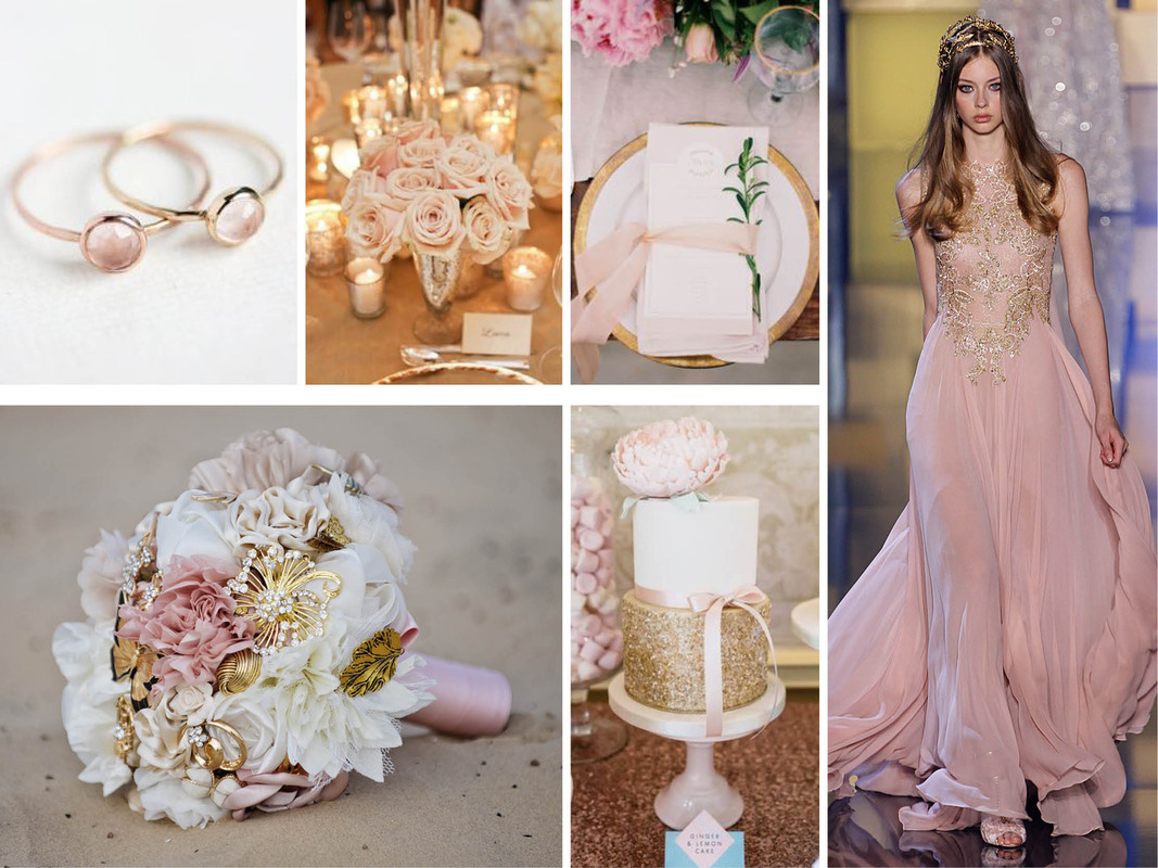 Pantone 2016 | Top 10 Cores para Casamentos_revistaicasei_rosa e dourado
