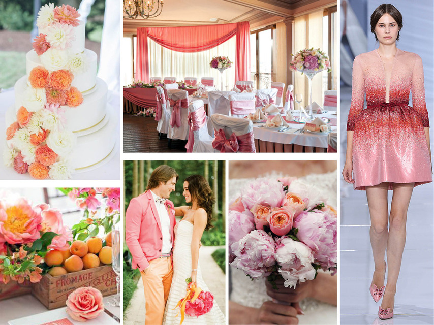 Pantone 2016 | Top 10 Cores para Casamentos_revistaicasei_rosa e laranja