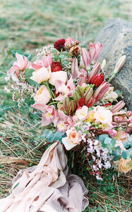 Buquê-cascata tulipas