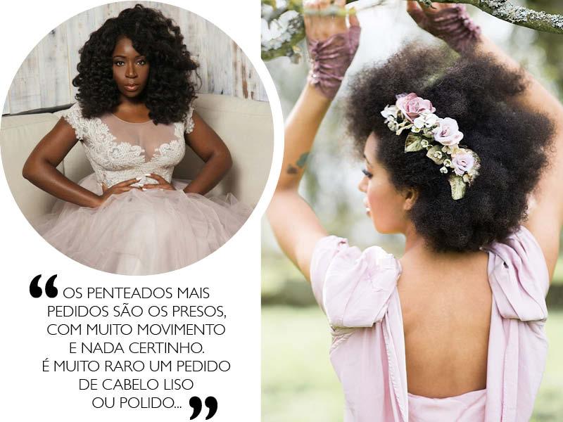 Noivas negras penteados