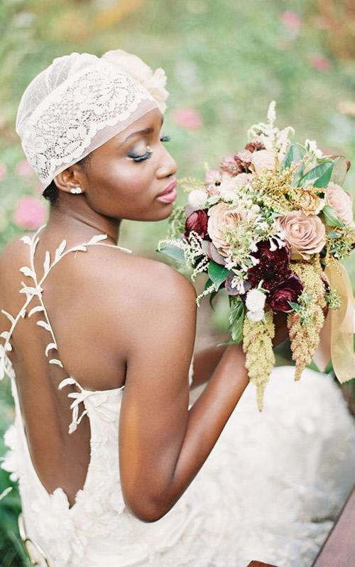 Penteados-para-noivas-negras-curto-lenço