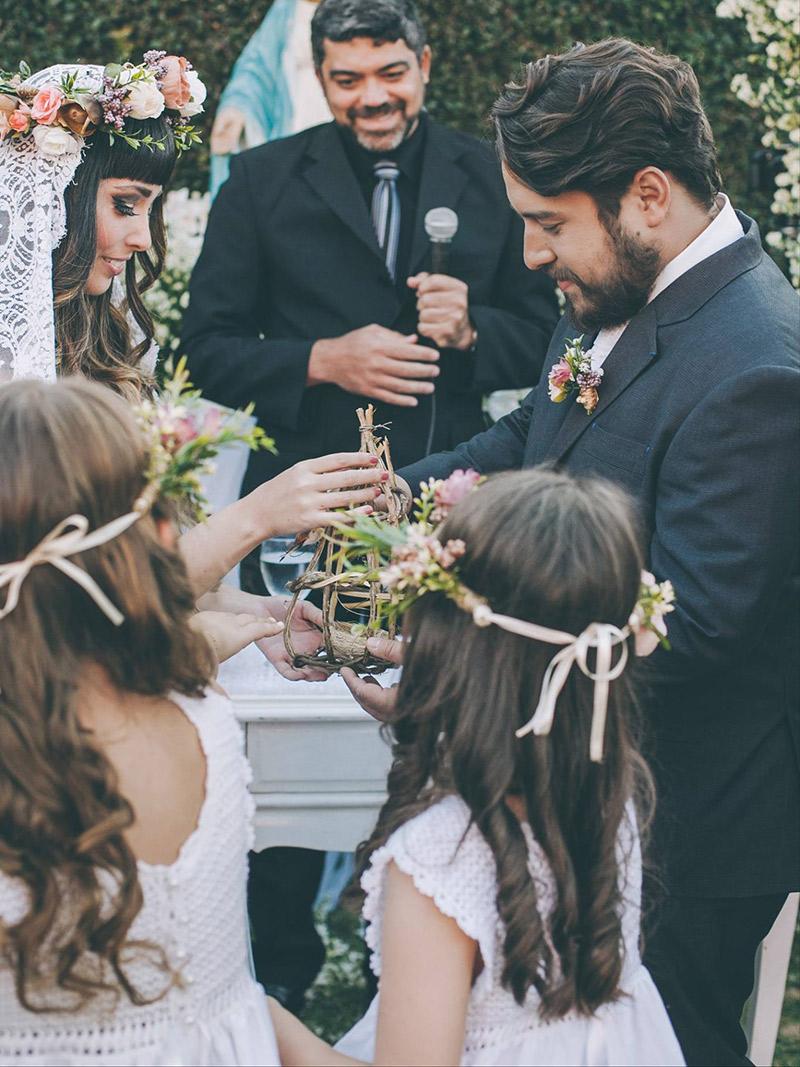 Casamento real Débora e Antônio cerimônia