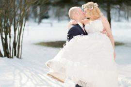Casamento real internacional na neve