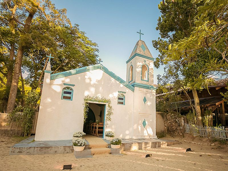Lugares para casar em Ilhabela vila salga igreja