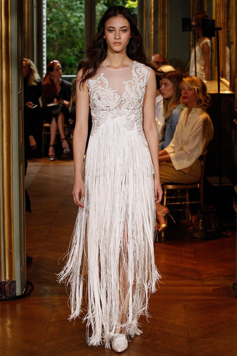 Vestido de noiva tendências 2016 franjas e plumas