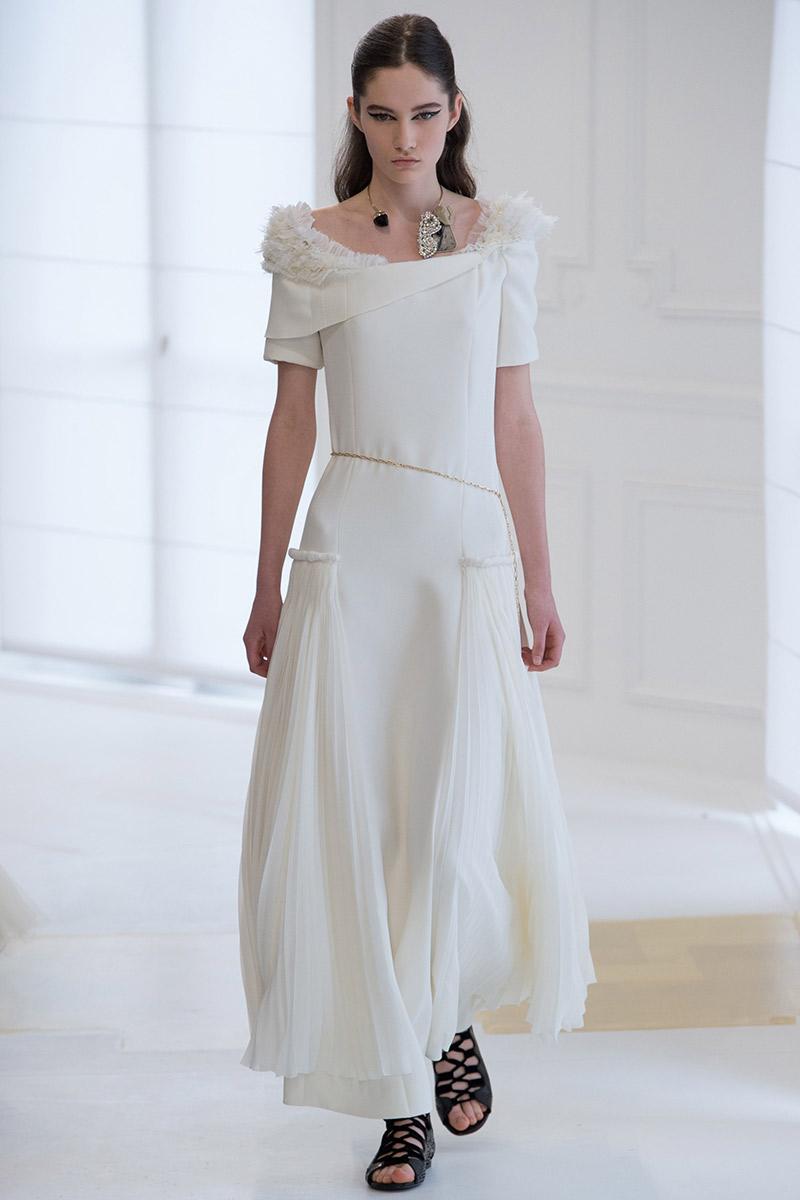 Vestido de noiva tendências 2016 Dior plissado