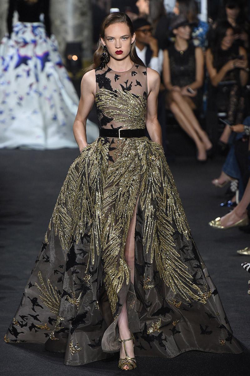 Vestido de noiva tendências 2016 Elie Saab dourado