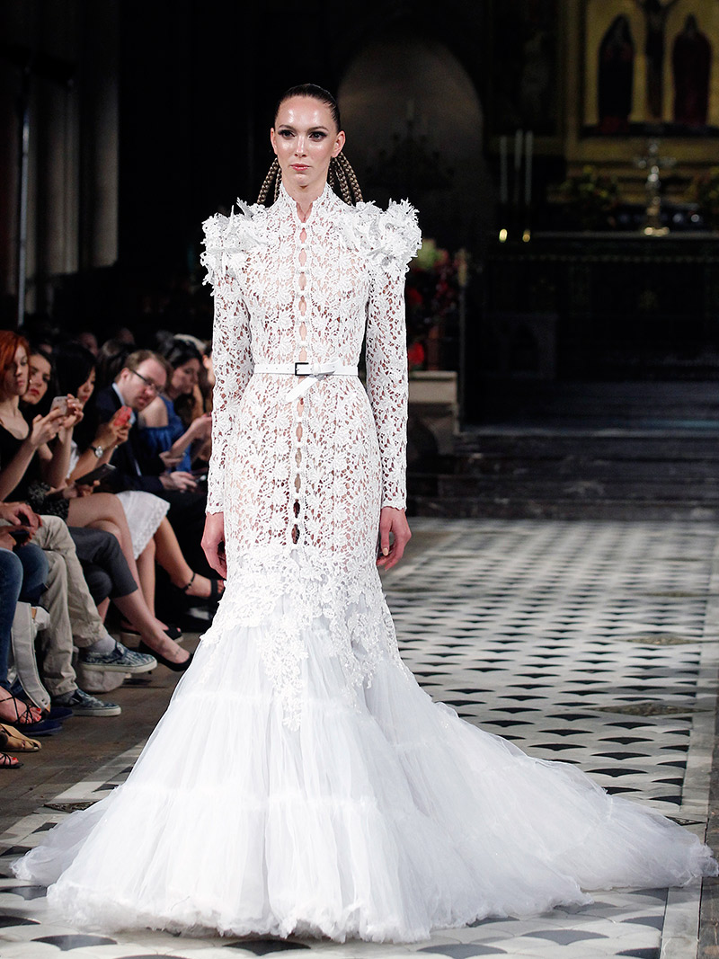 Vestido de noiva tendências 2016 Francois Eymeric