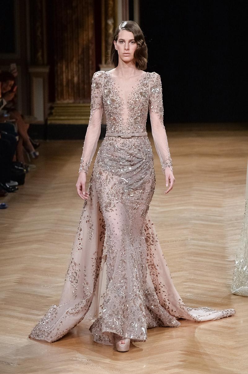 Vestido de noiva tendências 2016 Ziad Nakad transparência