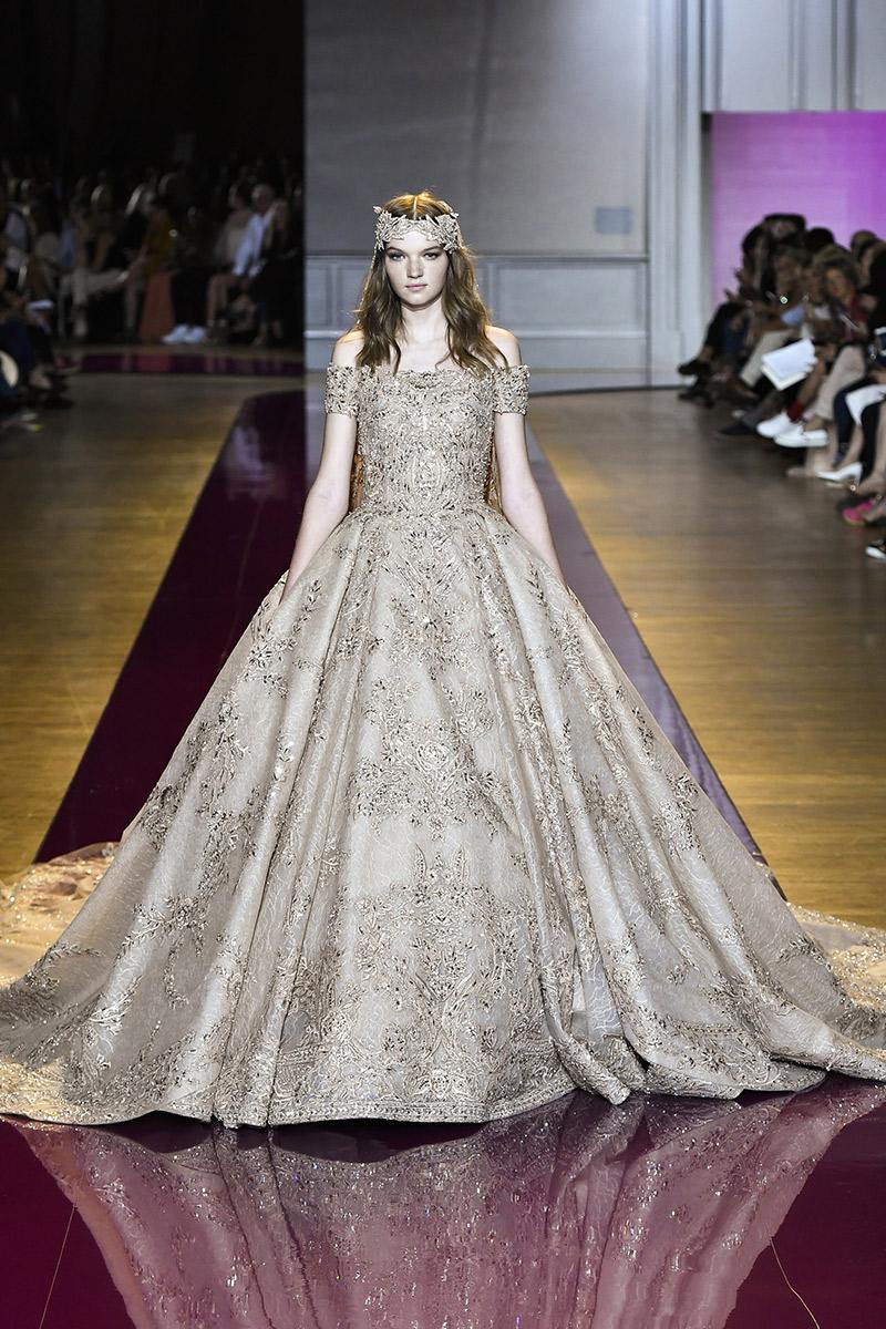 Vestido de noiva tendências 2016 Zurair Murad dourado