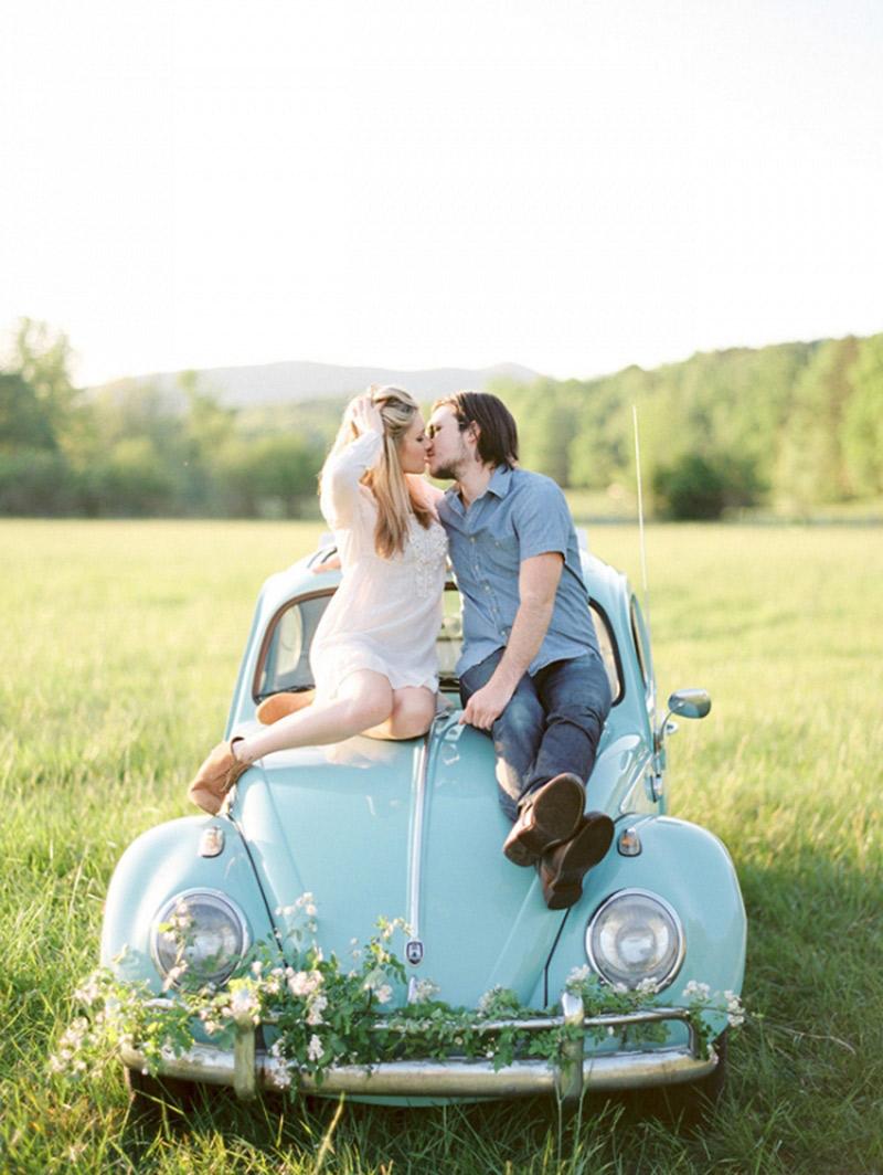 Como decorar o ensaio pré-casamento campo