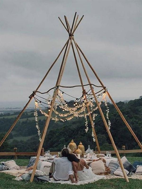 Decoração de casamento Como usar tendas