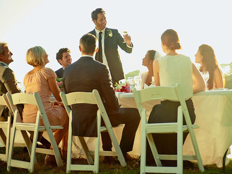 Festa de noivado organizar discurso