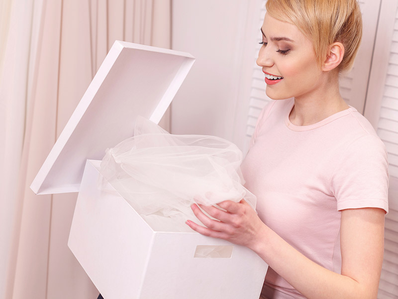 Como guardar o vestido de noiva o que não fazer
