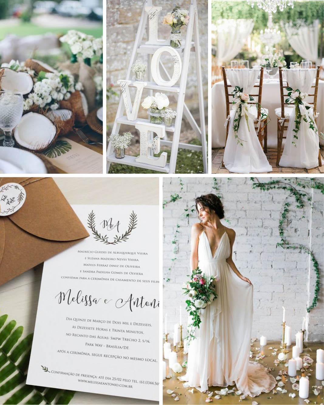 Decoração de casamento O significado das cores branco