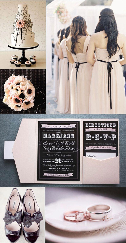 Decoração de casamento O significado das cores preto