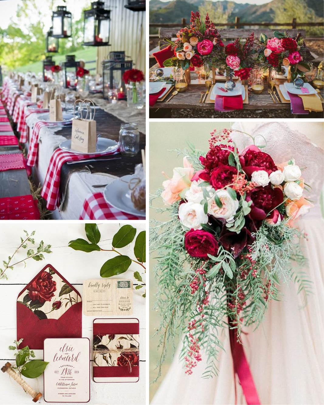 Decoração de casamento O significado das cores vermelho