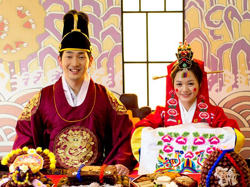 Vestido de noiva Trajes de casamento ao redor do mundo Coreia do Sul