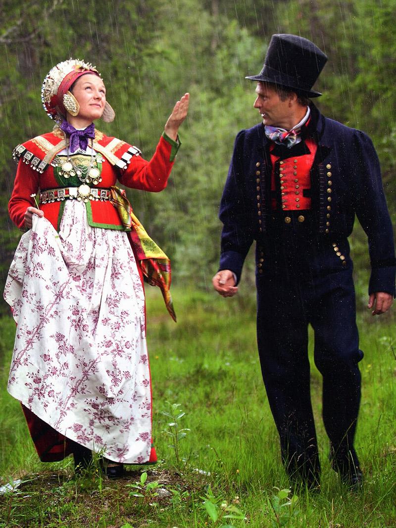 Vestido de noiva Trajes de casamento ao redor do mundo Noruega