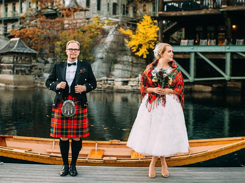 Vestido de noiva Trajes de casamento ao redor do mundo Escócia