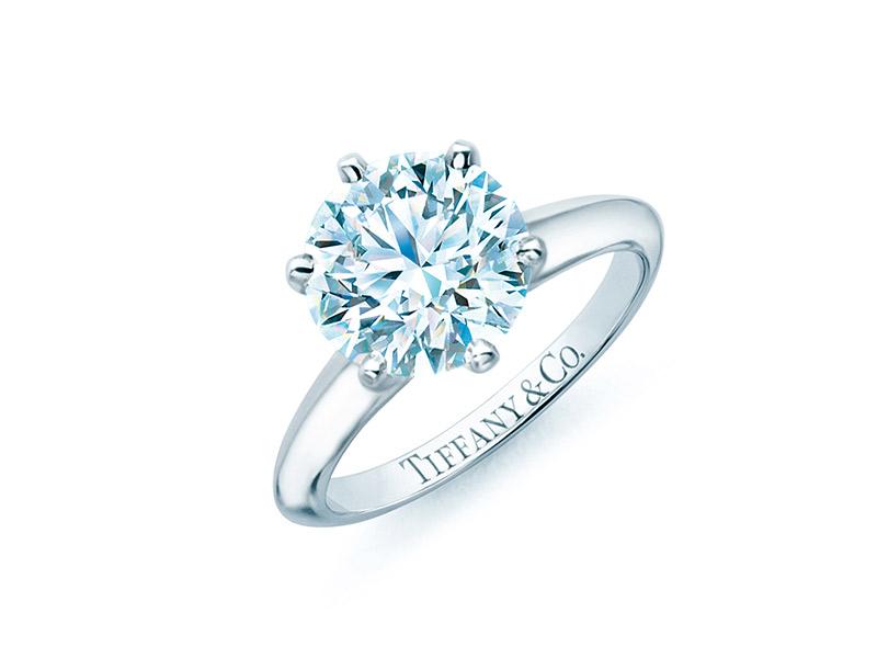 Anel de noivado Tiffany setting