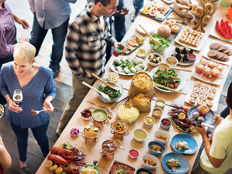 Ilha gastronômica Kosher buffet