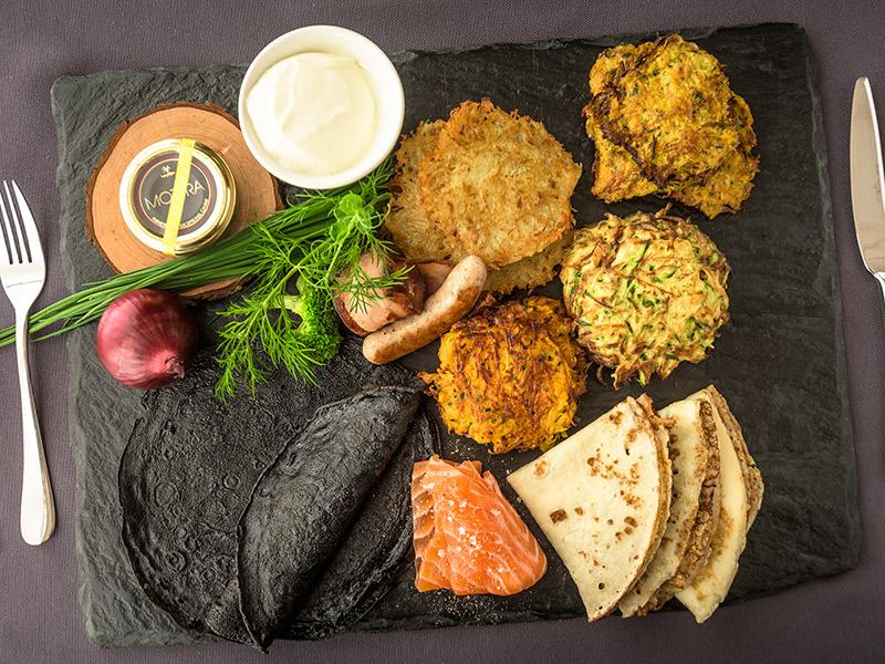 Ilha gastronômica Kosher peixe e raízes