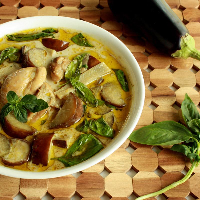 Ilha gastronômica tailandesa Gaeng Kiew Wan Neua Curry