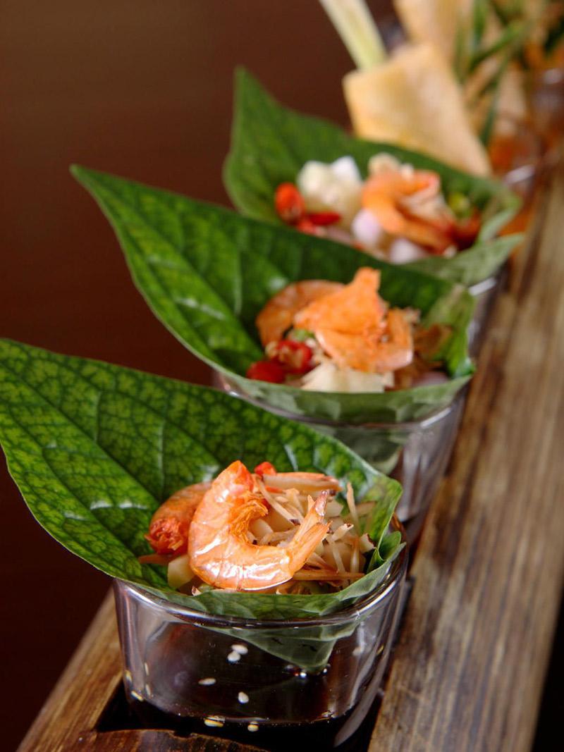 Ilha gastronômica tailandesa Miang Kham Goon