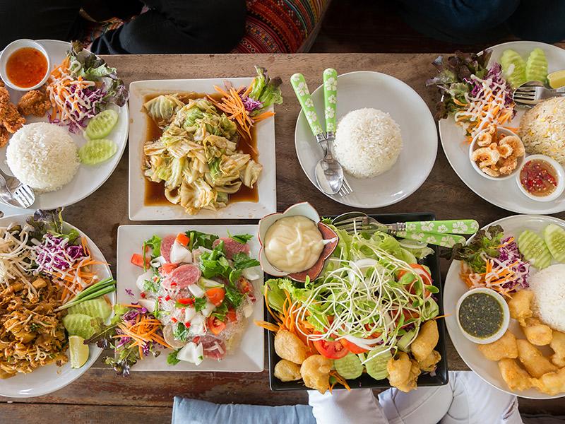 Ilha gastronômica tailandesa