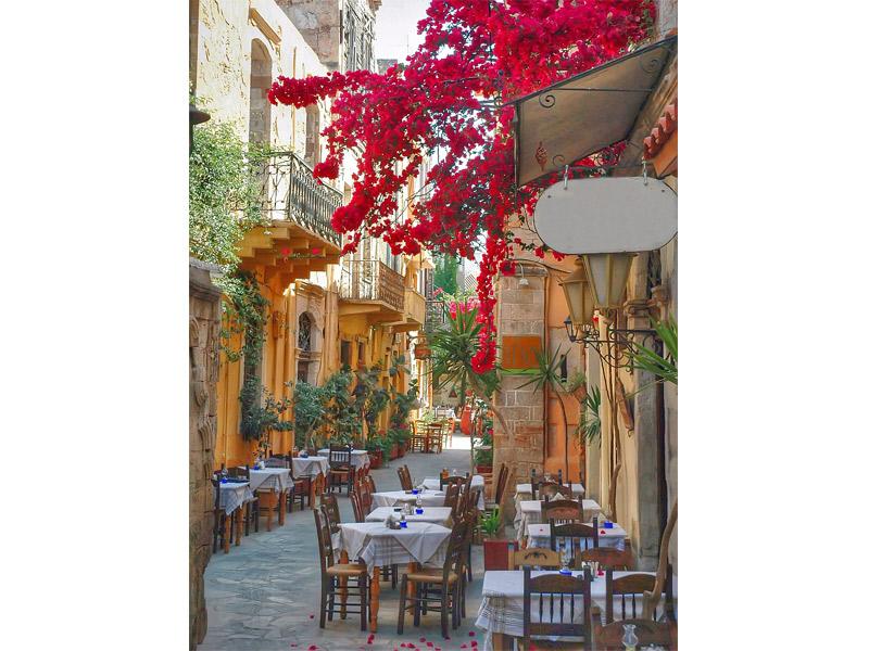 Lua de mel destinos gastronômicos para casais Grécia restaurante