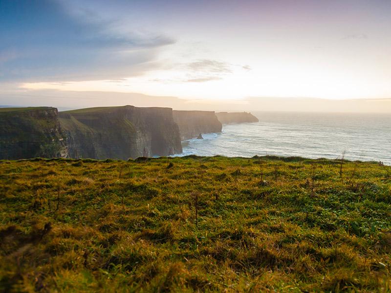 Lua de mel no outono Irlanda