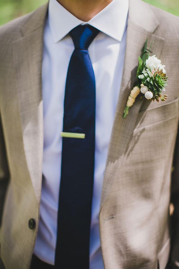 Traje do noivo regras atualizadas Lapela suculenta