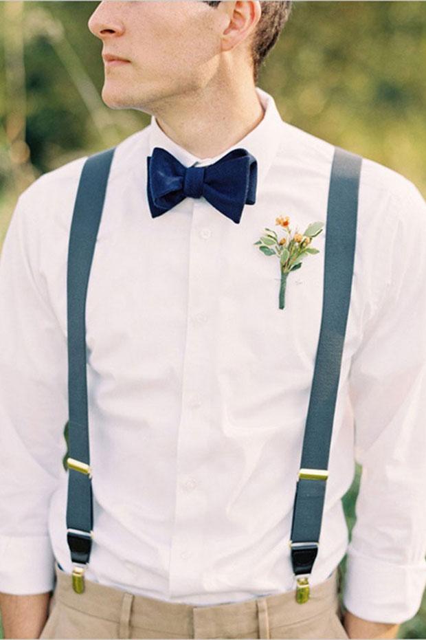 Traje do noivo regras atualizadas Lapela flor