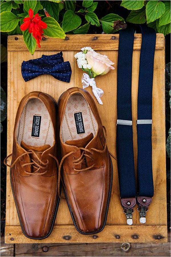 Traje do noivo regras atualizadas Sapato caramelo