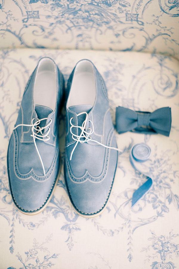 Traje do noivo regras atualizadas Sapato azul