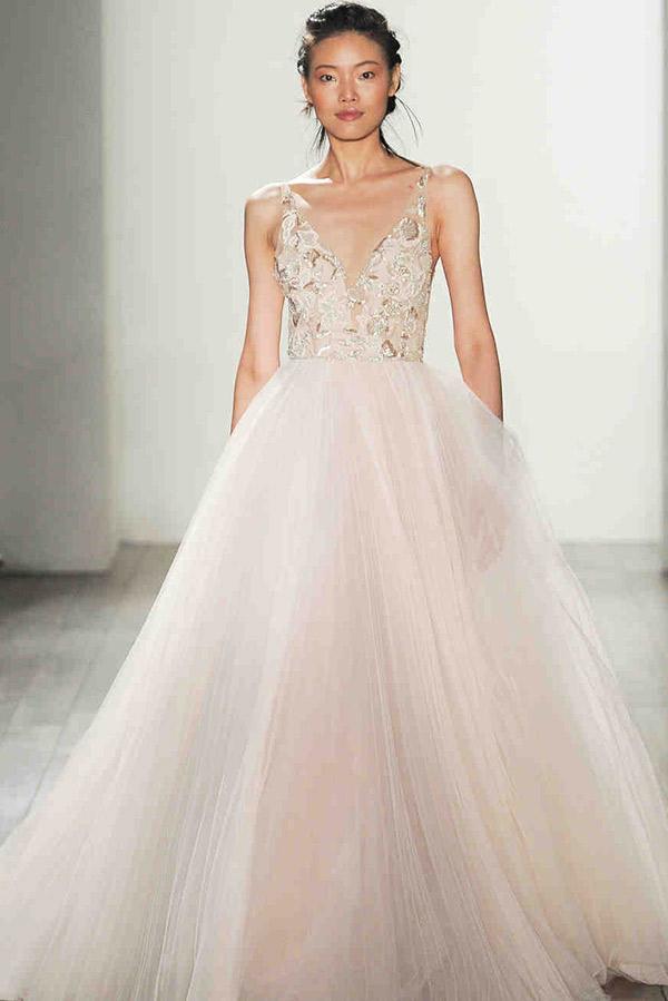 Vestido de noiva tendências do NY Bridal Week Outono  blush