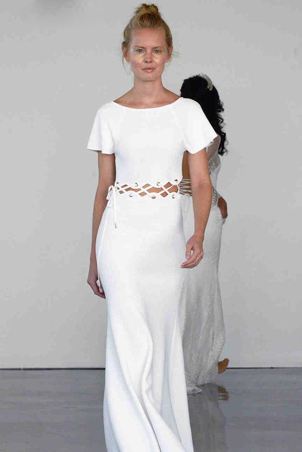 Vestido de noiva tendências do NY Bridal Week Outono 2017 cropped